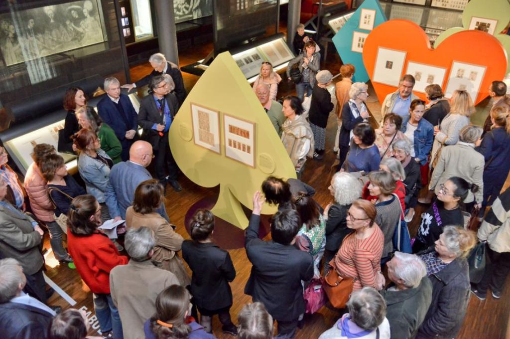 Vernissage de l'exposition au Musée Français de la Carte à Jouer le 14 mai 2019